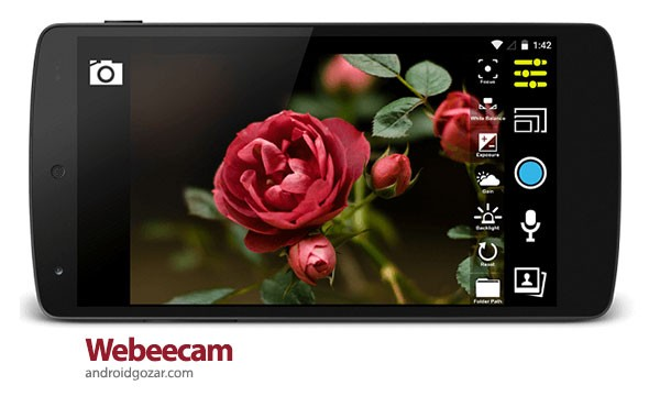 Webeecam – USB Web Camera 1.4.1 دانلود نرم افزار ضبط فیلم از دوربین USB متصل به موبایل