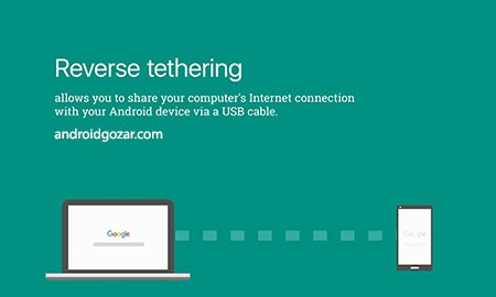 ReverseTethering NoRoot PRO 1.0.8-pro استفاده از اینترنت کامپیوتر در آندروید