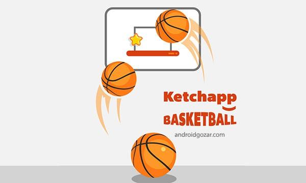 Ketchapp Basketball 1.0 دانلود بازی بسکتبال اندروید