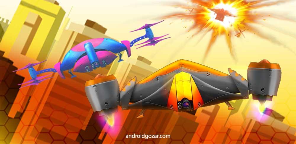 Drone Battles 1.47 دانلود بازی جنگ های هواپیمای بدون سرنشین + مود