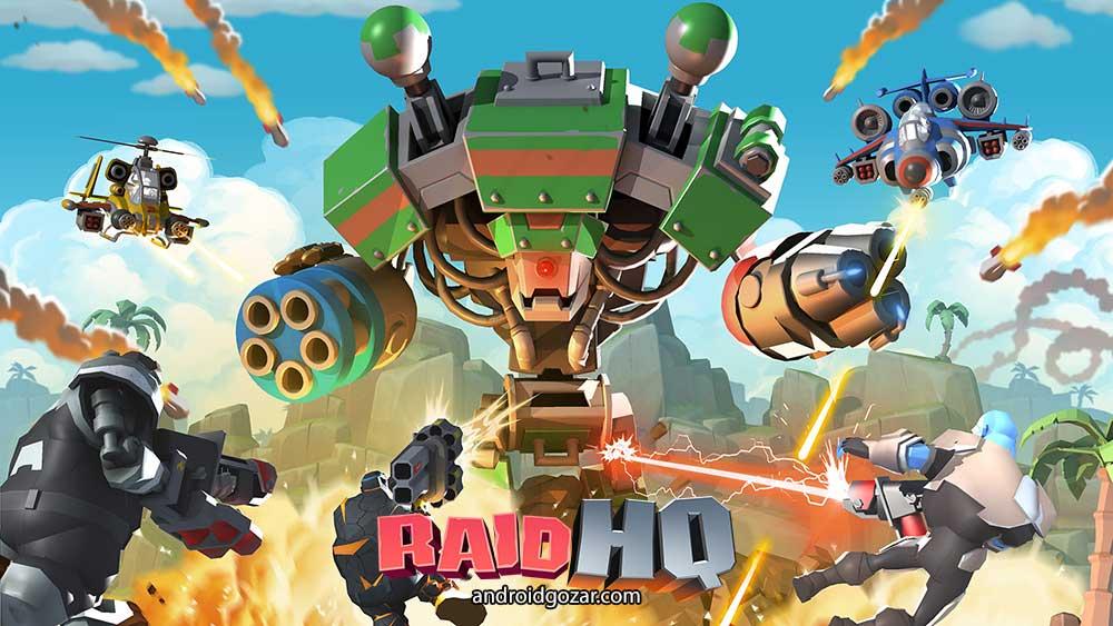 RAID HQ 3.601 دانلود بازی ساخت قلعه شکست ناپذیر اندروید + مود