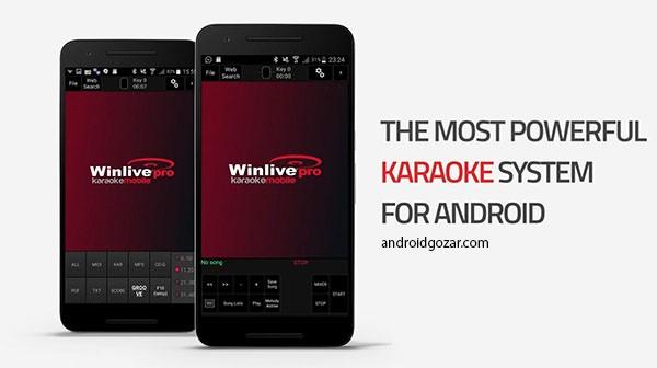 Winlive Pro Karaoke Mobile 1.1.02 دانلود نرم افزار کارائوکه حرفه ای اندروید
