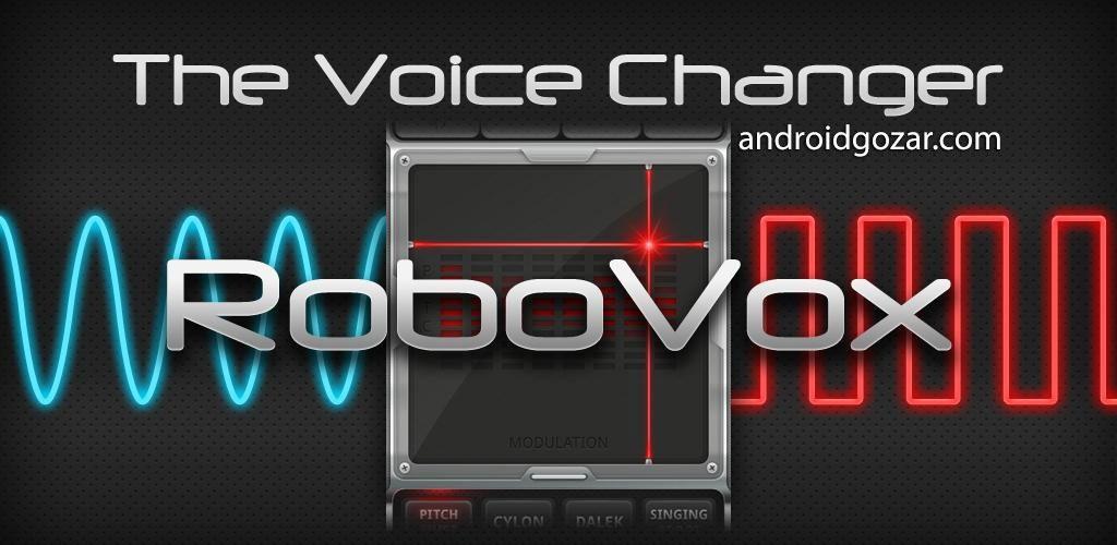 RoboVox Voice Changer Pro 1.8.4 دانلود نرم افزار تغییر صدا