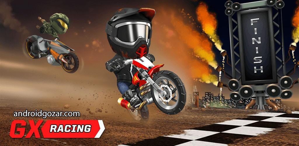 GX Racing 1.0.40 دانلود بازی مسابقه موتور سیکلت اندروید + مود