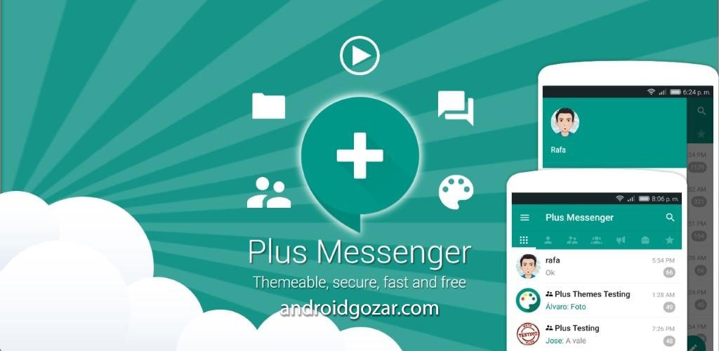 Plus Messenger 3.13.1.9 دانلود مسنجر تلگرام پلاس اندروید + تم ها