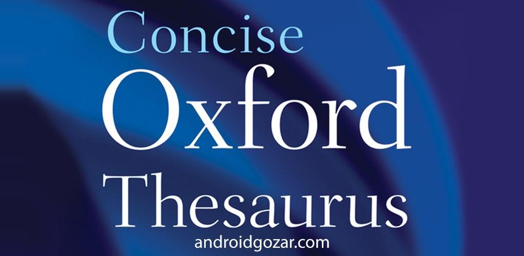 Concise Oxford Thesaurus Premium 6.0.009 دانلود اصطلاحنامه مختصر آکسفورد