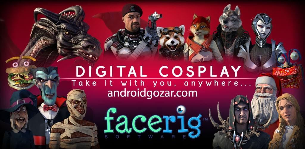 FaceRig Pro 85 دانلود نرم افزار تبدیل شدن به شخصیت کارتونی+دیتا
