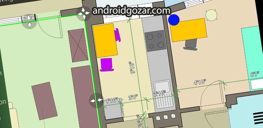 Floor Plan Creator Full 3.1.5 دانلود نرم افزار نقشه کشی اندروید