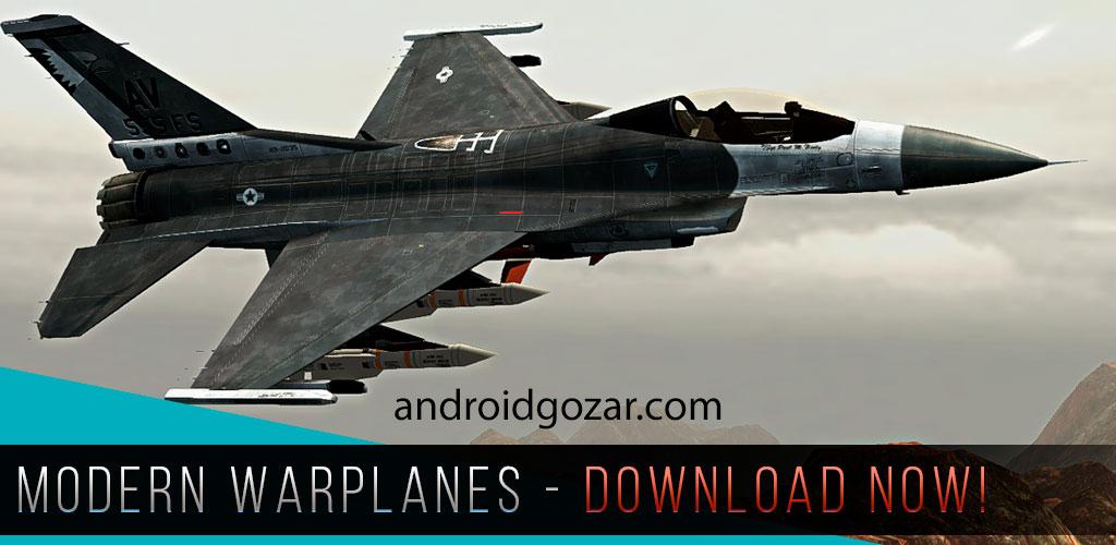 Modern Warplanes 1.2 دانلود بازی هواپیماهای جنگی مدرن اندروید + مود