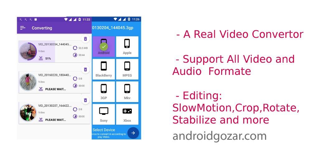 Video Converter Premium 1.6 دانلود مبدل صوتی و تصویری اندروید