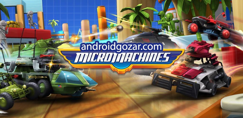Micro Machines 1.0.5.0001 دانلود بازی جنگ ماشین های کوچک اندروید + دیتا