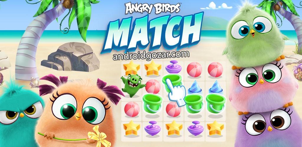 Angry Birds Match 1.0.13 دانلود بازی پازل پرندگان خشمگین اندروید + مود