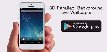 3D Parallax Background 1.28 دانلود پس زمینه سه بعدی iOS 7