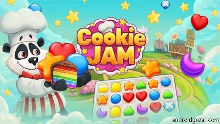 Cookie Jam 6.0.225 دانلود بازی فکری شیرینی مربایی اندروید + مود