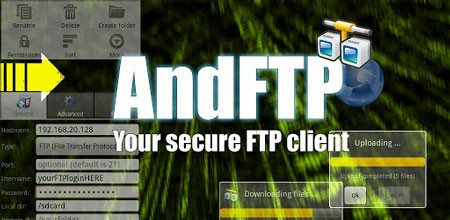 AndFTP Pro (your FTP client) 4.2 دانلود نرم افزار کلاینت FTP