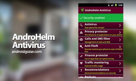 AndroHelm AntiVirus Security 2.5.2 دانلود آنتی ویروس اندروهلم