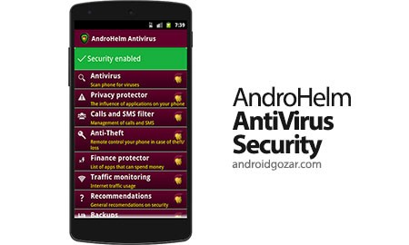 AndroHelm AntiVirus Android. 2.5.4 دانلود نرم افزار آنتی ویروس آندروهلم