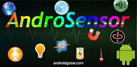 AndroSensor Donate 1.9.6.3 دانلود نرم افزار نمایش اطلاعات سنسورها