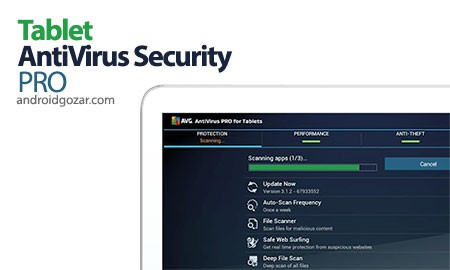 AVG Tablet AntiVirus Security PRO 5.9.2.3 دانلود آنتی ویروس تبلت اندروید