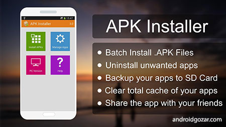 APK Installer 5.0 دانلود نرم افزار نصب و حذف برنامه ها