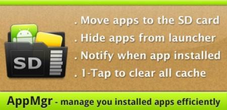 AppMgr Pro III (App 2 SD) 4.11 انتقال برنامه به کارت حافظه اندروید