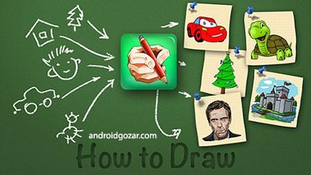 How to Draw – Easy Lessons 3.7.3 Mod دانلود نرم افزار آموزش نقاشی