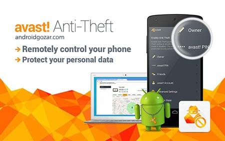 Avast Anti-Theft 4.2.0 دانلود نرم افزار ضد سرقت آواست