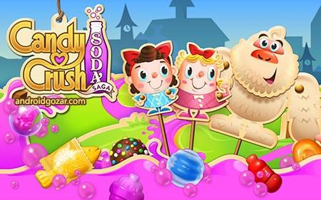 Candy Crush Soda Saga 1.82.9 دانلود بازی فشردن آب نبات اندروید + مود