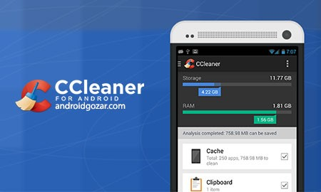 CCleaner Professional 1.18.69 پاکسازی و بهینه سازی اندروید