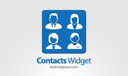 Contacts Widget 6.3.1.101 دانلود ویجت دسترسی آسان به مخاطبین