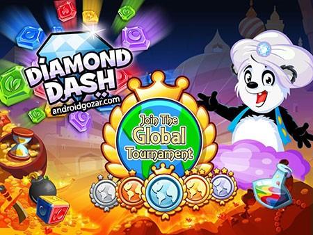 Diamond Dash 5.3 دانلود بازی موبایل الماس داش اندروید + مود