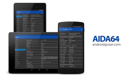AIDA64 Premium 1.42 نمایش اطلاعات کامل سیستم اندروید