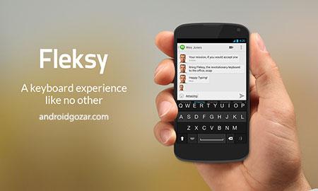 Fleksy + GIF Keyboard Full 7.8.4 Final دانلود نرم افزار صفحه کلید سریع و دقیق
