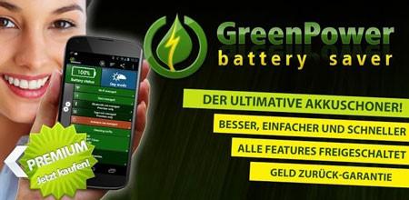 GreenPower Premium 9.21 Patched دانلود نرم افزار افزایش قدرت باتری