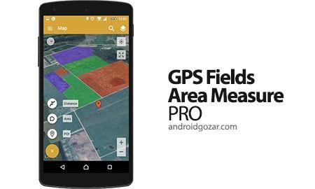 GPS Fields Area Measure PRO 1.3.4 دانلود نرم افزار اندازه گیری آسان مساحت، فاصله و محیط از روی نقشه