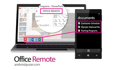 Office Remote for Android 1.2.0.0 دانلود نرم افزار آفیس از راه دور
