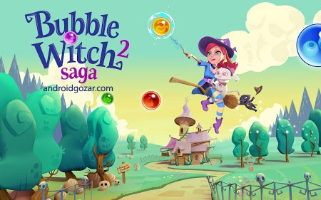 Bubble Witch 2 Saga 1.60.3 دانلود بازی حماسه جادوگر حباب 2+مود