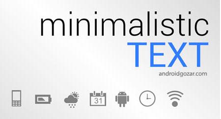 Minimalistic Text PRO: Widgets 4.8 دانلود نرم افزار ساخت ویجت های متنی شگفت آور
