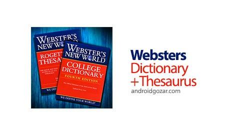 Websters Dictionary+Thesaurus Premium 5.1.032 دانلود دیکشنری و اصطلاح نامه وبستر