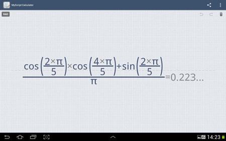 MyScript Calculator 1.2.2.456 دانلود نرم افزار انجام محاسبات ریاضی با دست خط