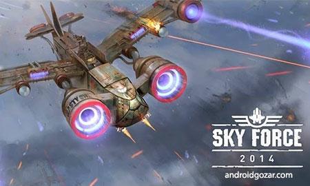 Sky Force 2014 1.40 دانلود بازی نیروی آسمان اندروید+مود+دیتا