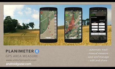 Planimeter – GPS area measure 4.5.8 دانلود نرم افزار اندازه گیری مساحت GPS