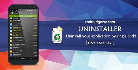Uninstaller Pro 1.5.6 دانلود نرم افزار حذف برنامه های اندروید