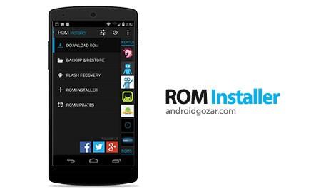 ROM Installer Gold 1.3.0.0 دانلود نرم افزار پیدا کردن و نصب رام های کاستوم