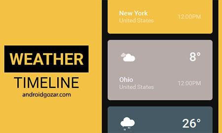 Weather Timeline – Forecast 1.7.1 دانلود نرم افزار پیش بینی آب و هوا