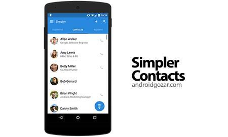 Simpler Contacts & Dialer Pro 8.0.6 دانلود شماره گیر و مدیریت مخاطبین