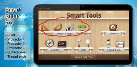 Smart Ruler Pro 2.6 دانلود نرم افزار خط کش، نقاله، تراز سنج