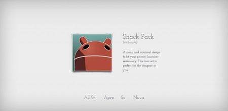 Snack Pack 1.7.7 دانلود تم شیک و زیبا