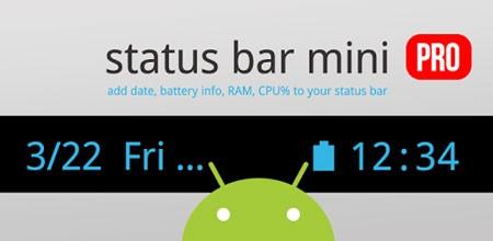 Status Bar Mini PRO 1.0.155 Patched سفارشی سازی نوار وضعیت
