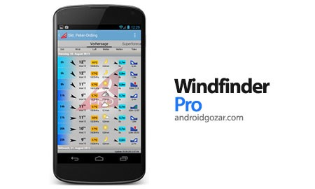 Windfinder Pro 2.3.0 اطلاعات باد، امواج و آب و هوای جهان